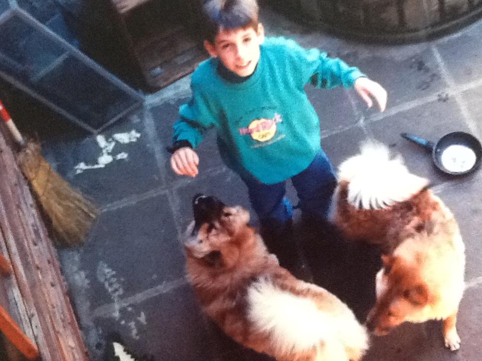 Mi hermano Jorge con Winnie y Jordan